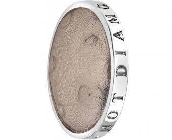 Hot Diamonds Přívěsek Emozioni Faux Ostrich Beige EC084-094 33 mm