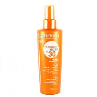 Bioderma Sprej pro citlivou pleť SPF 30 Photoderm Bronz (Spray Hight Protection) 200 ml